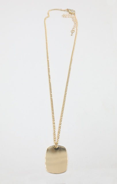 Gold Dog Tag Necklace - Jacob