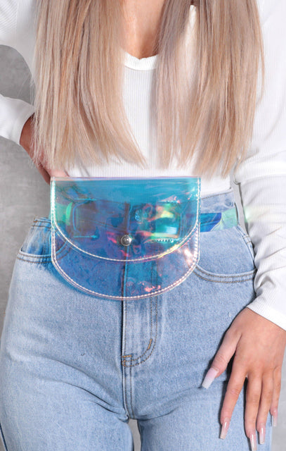 Holographic Clear Pouch Belt Bag - Sammy