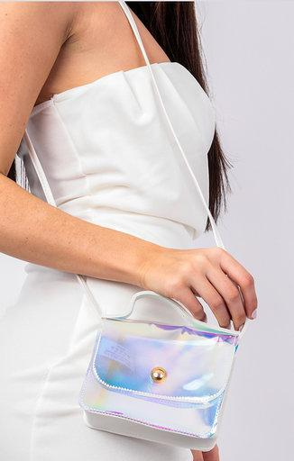 Holographic Shoulder Grab Bag - Afia