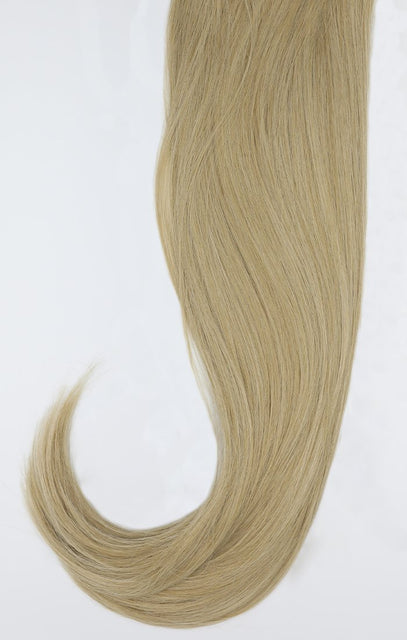 "Light Golden Blonde 24"" Synthetic Straight Hair Extensions Clip In Piece - Auora"
