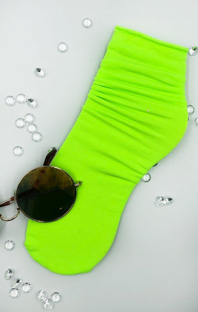 Neon Green Ankle Socks - Belinda