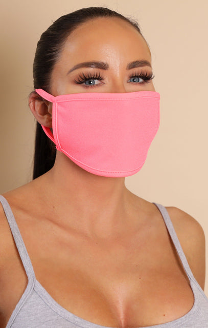 Neon Pink Face Mask - Rosa