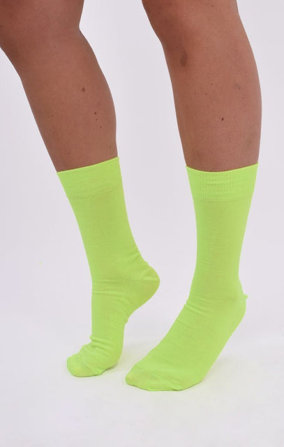 Neon Yellow Socks - Thora