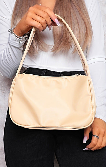 Nude Nylon 90's Shoulder Bag - Samantha