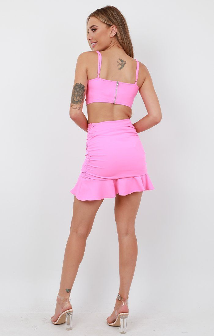 Pink Ruched Co-Ord - Viv