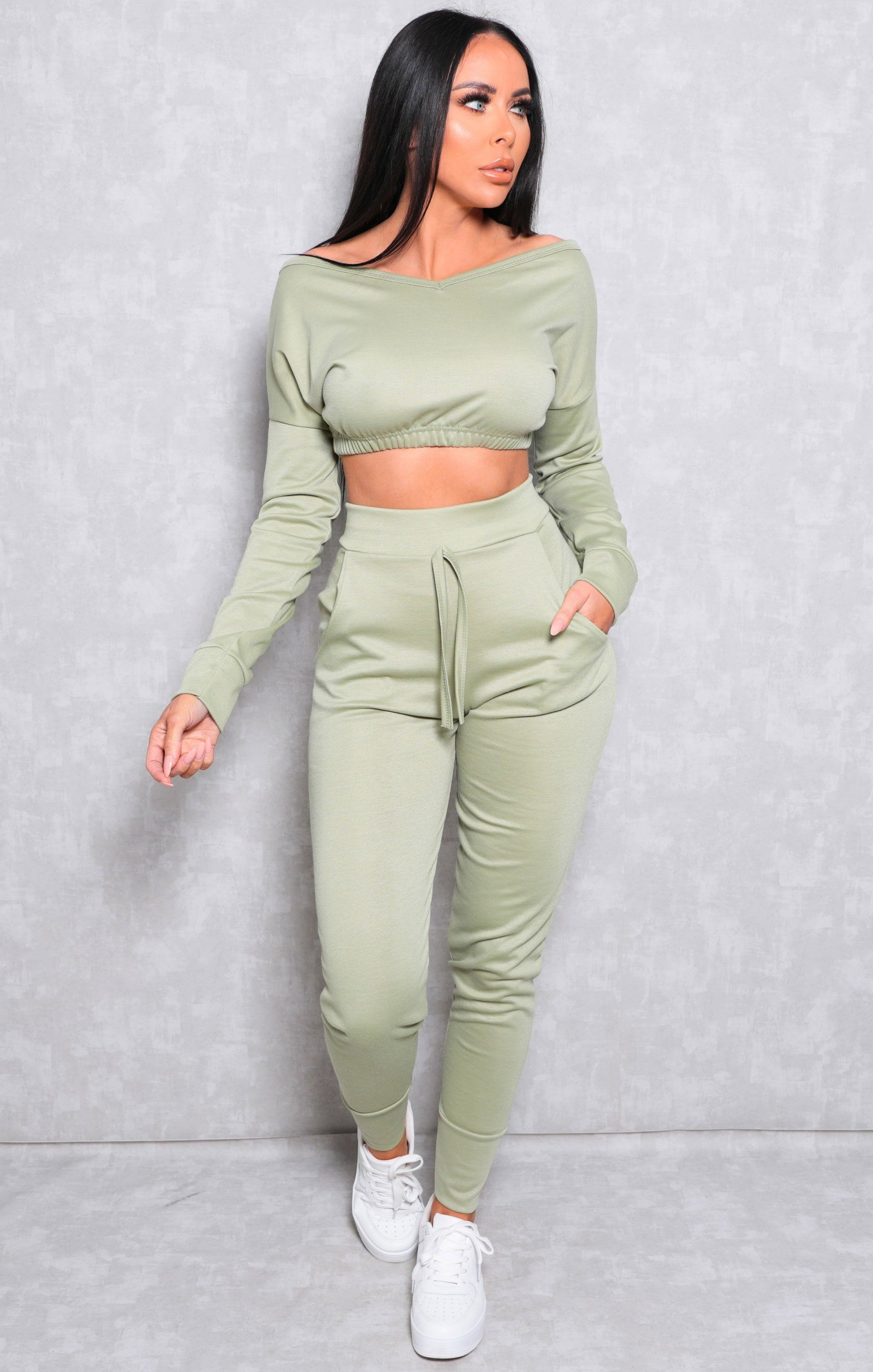 Sage Crop Loungewear Set - Deanna