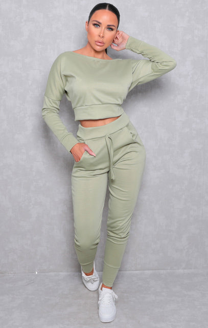 Sage Off Shoulder Loungewear Set - Blake