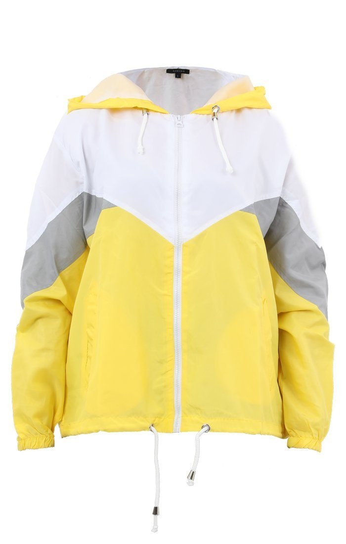 Yellow Windbreaker Jacket - Willa