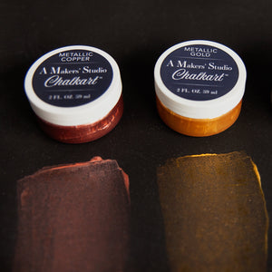A Makers' Studio - Metallic Copper Chalkart