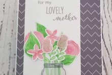 A completed card from a previous month's card making kit - Mother's Day
