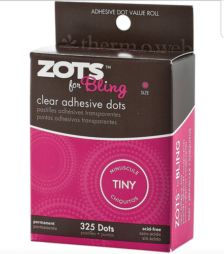 Zots Clear Adhesive Dots  Bling Tiny 1/8