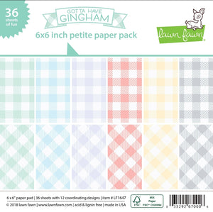 Gotta Have Gingham 6x6 paper pad