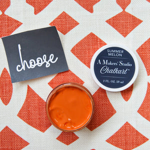 A Makers' Studio - Summer Melon Chalkart