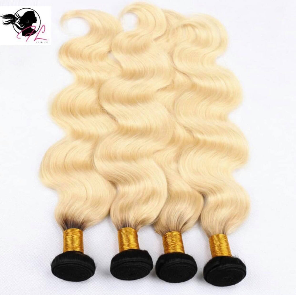 Brazilian 1B/613 Blonde Body Wave Single Bundles