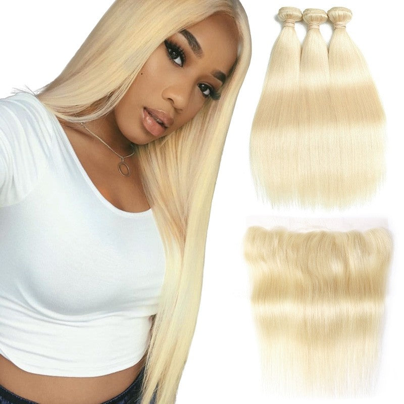613 Straight Bundles W/ Closure