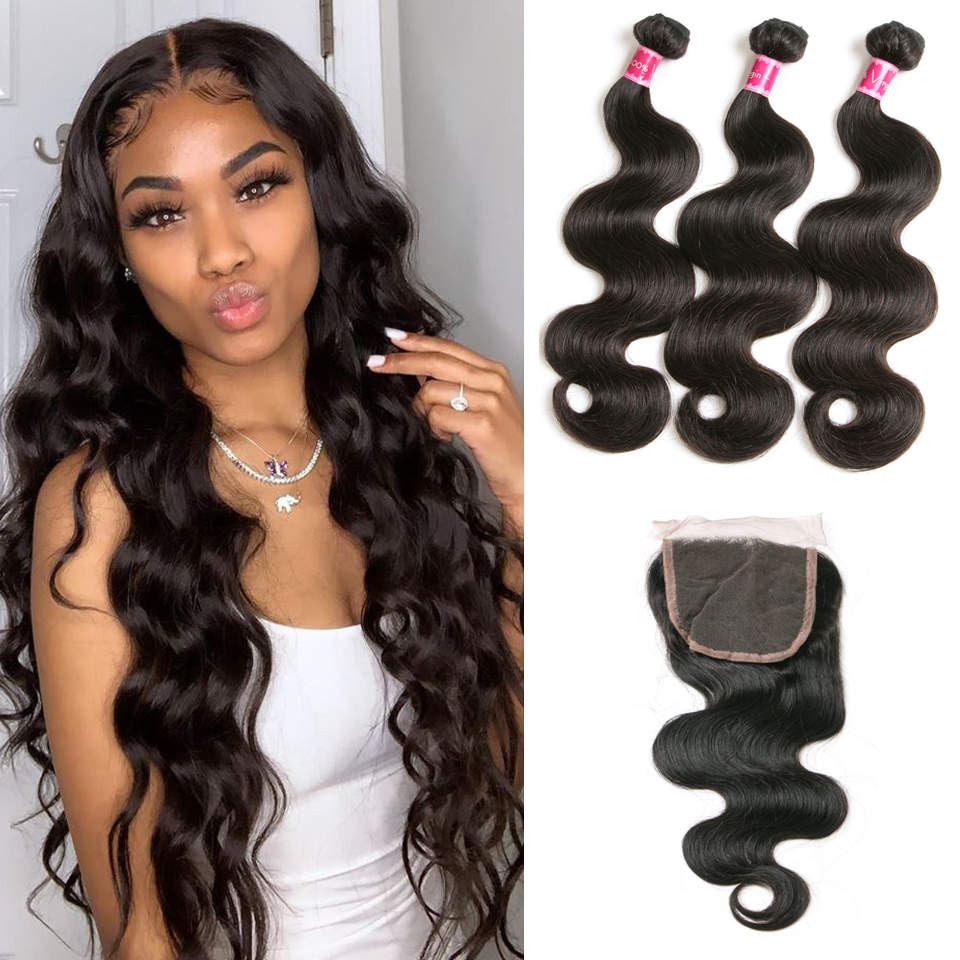 Body Wave Brazilian Bundle Deal w/ Frontal