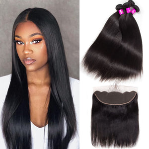 Straight Brazilian Bundles W/ Closure