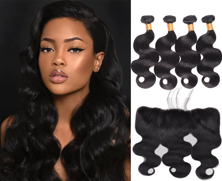 Body Wave Brazilian Bundle Deal w/ Closure