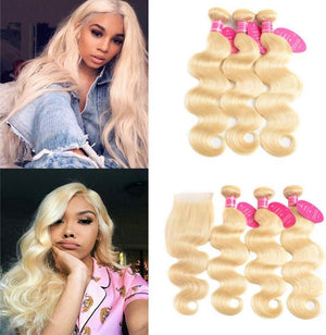 613 Blonde Body Wave Bundle Deal