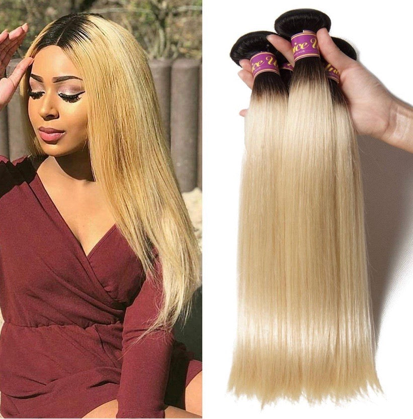 Brazilian 1B/613 Blonde Straight Bundle Deal