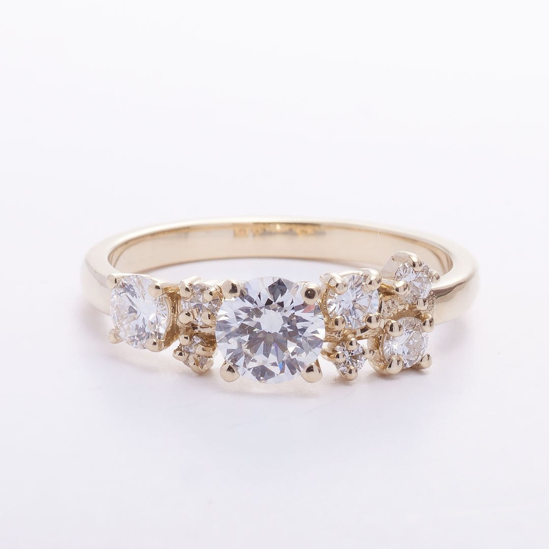 Engagement Diamond Cluster Ring