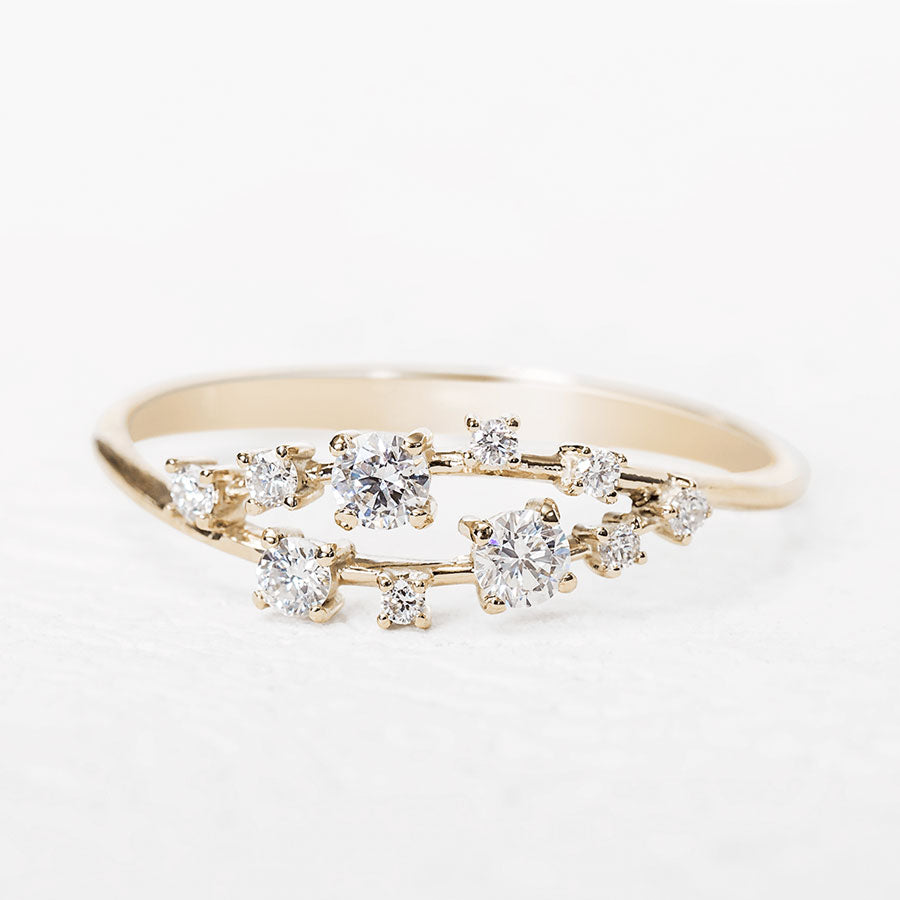 Diamond Cluster Ring_one2threejewelry