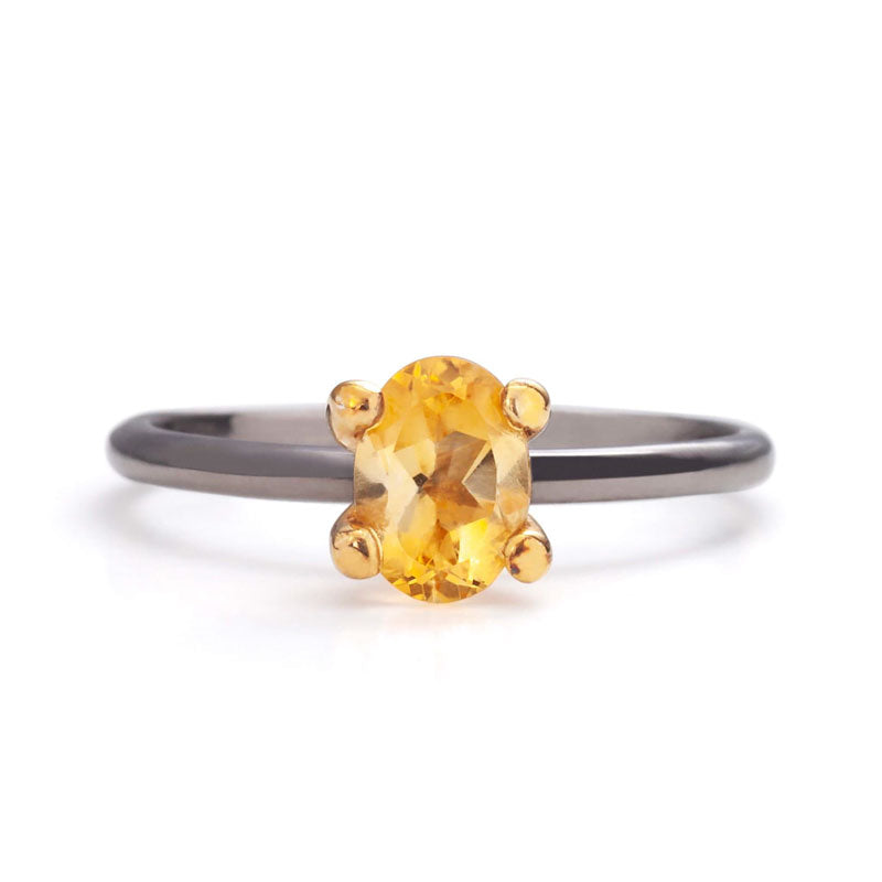 Citrine Ring_14K_Gold_one2threejewelry.com