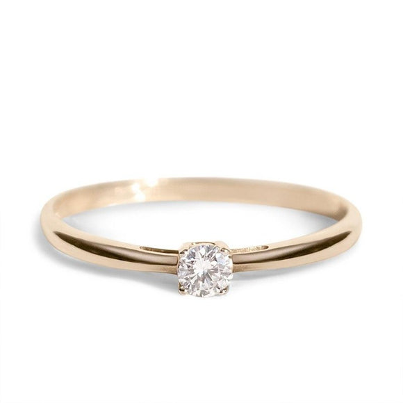 Classic Engagement Ring_14K_GODL_Diamonds_one2threejewelry