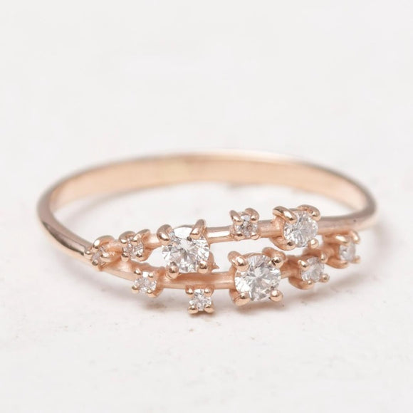 Gold Cluster Ring