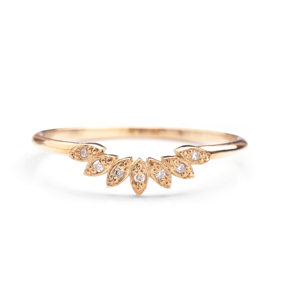Crown Ring with Diamonds_14KGOLD_one2threejewerly