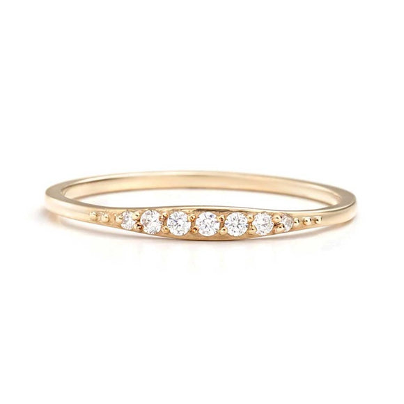 Diamond Wedding Band | one2threejewelry.com