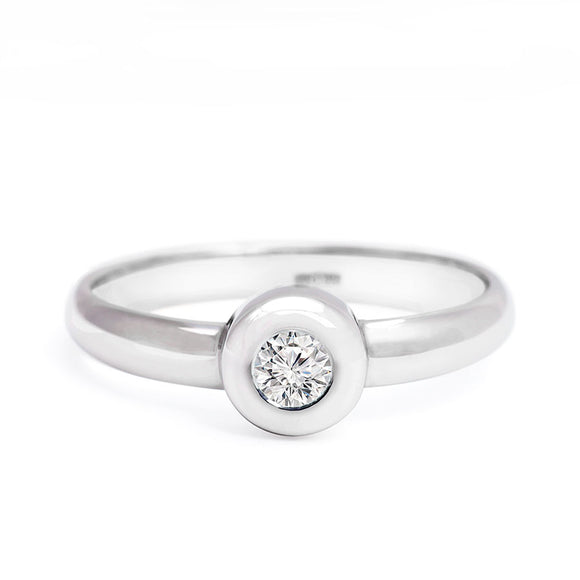 Solitaire Diamond Ring_14Kwhite_gold_diamond