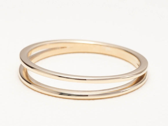 Double Gold Ring_14Kgold