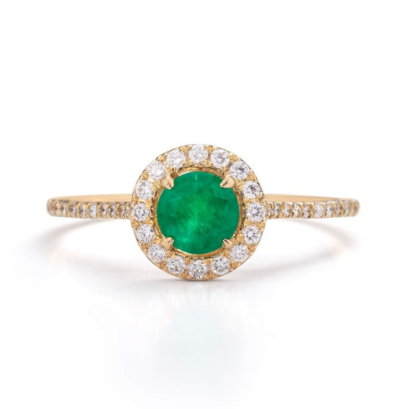 Emerald Engagement Ring_one2threejewelry