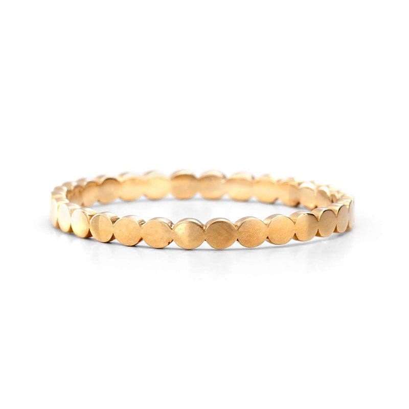 14 Gold Beaded Style Ring | one2threejewelry.com