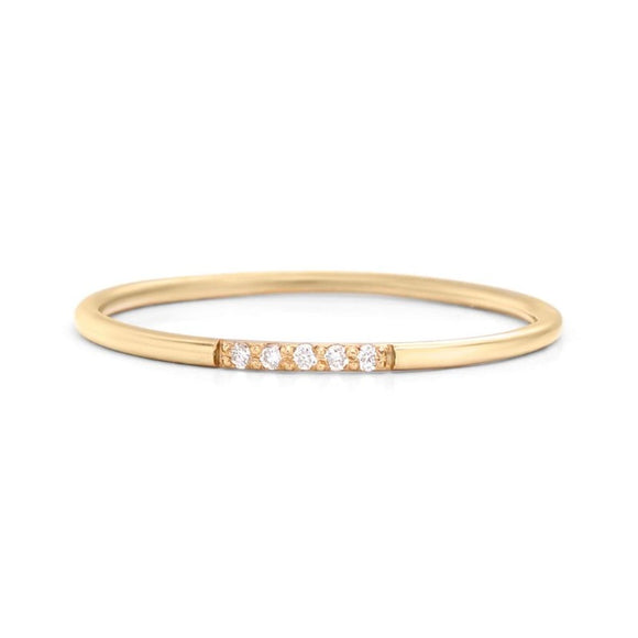 One2Three Jewelry 14K Yellow Gold Promise Ring 1