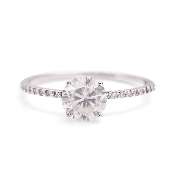 1 Carat Moissanite Ring