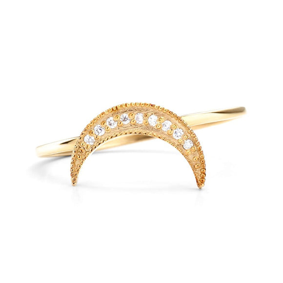 14K_Yellow_Gold_Moon Stackable Ring