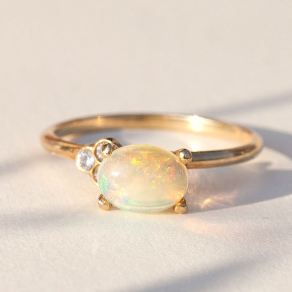 Opal Engagement Ring | one2threejewelry.com