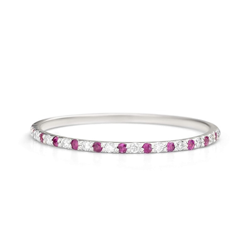 Rubies and Diamond Wedding Band
