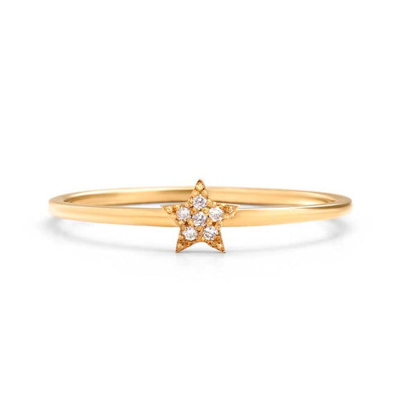 Star Diamond Ring  | one2threejewelry.com