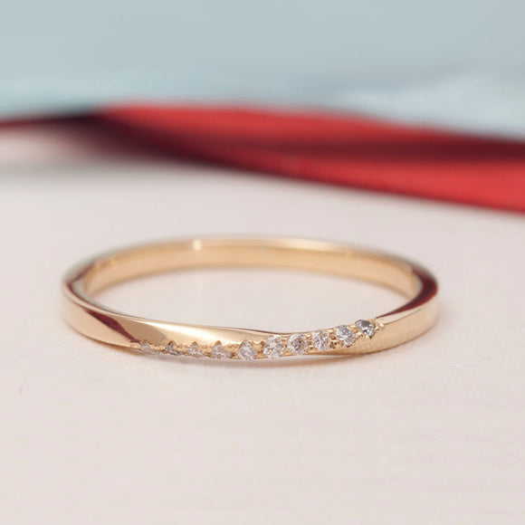 14K_GOLD_Twisted Wedding Band