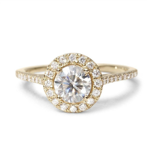 Moissanite Diamond Ring | One2ThreeJewelry.com