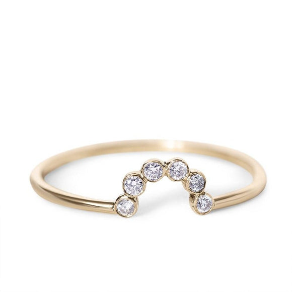 Diamond Crown Ring_one2threejewelry