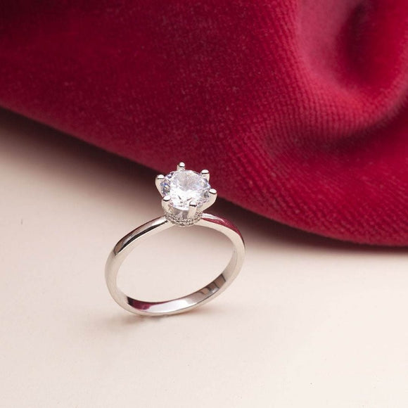 Moissanite Engagement Ring_photo_one2threejewelry