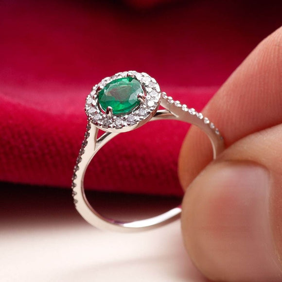 Emerald and Diamond Ring_one2threeJewelry_photo1