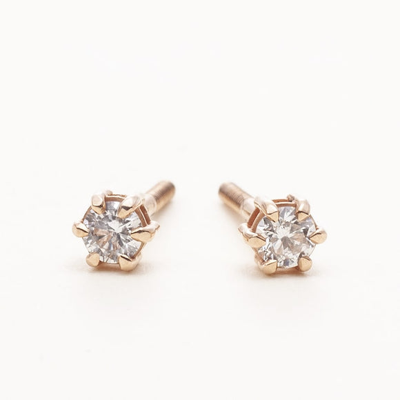 14K_Yellow_Gold_round_cut_Diamond_Earrings