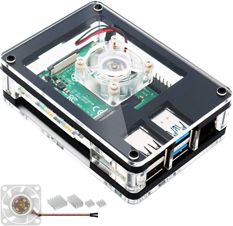 Acrylic Case for Raspberry Pi 4 Model B