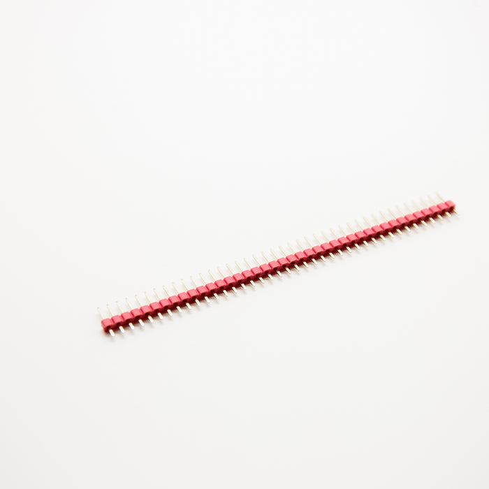 "Red/Blue/Black 0.1"" 1X40 Pin Male Header Strip Copper-Plated Colorful With Raspberry Pi"