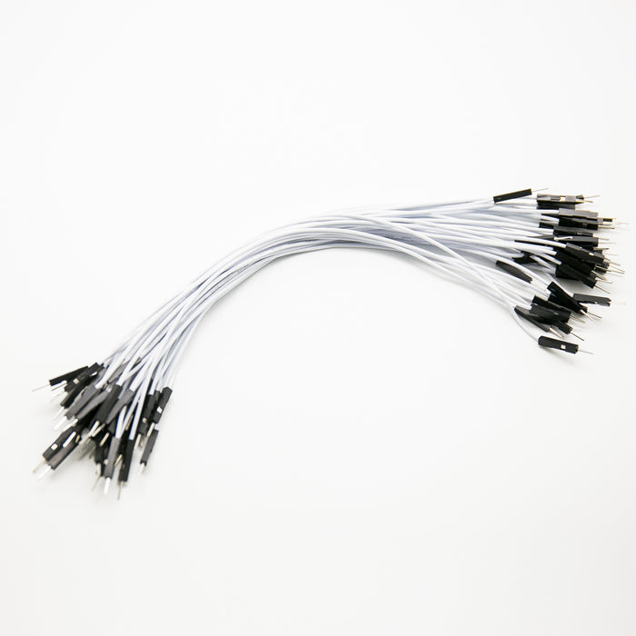 Cable 20cm Soft Silicon Wire 24AWG 1Pin Male to Male Jumper Wire